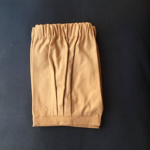Baby boy shorts in camel beige hipster style and retro boys shorts,  ring bearer bloomer shorts, baby boy wedding outfit