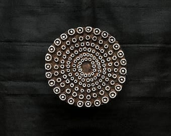 Dotted Circle Mandala Indian block printing stamps/wooden block for printing/ paper and fabric printing stamp