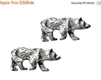 Limited Time Offer Bear Cufflinks - Gifts for Men - Anniversary Gift - Handmade - Gift Box Included