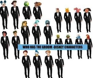 Who has the GROOM game | Printable Game | Disney Version