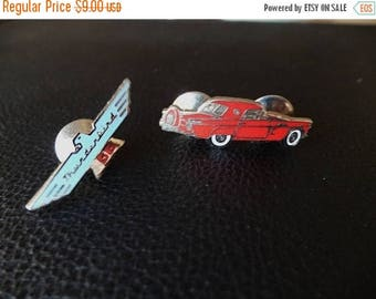 30% OFF SALE VTG Thunderbird Ford Automobile Lapel Pins Car Logo Set of 2