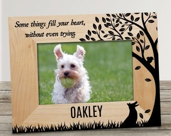 some things fill your heart personalized pet picture frame wooden frame engraved pet - Dog Frame