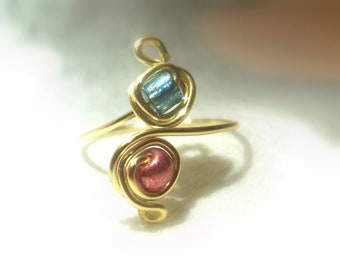 Blueberry Strawberry Toe Ring