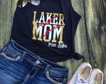 Laker mom. Baseball tank top. Lakers