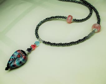 Beautiful Handmade Lampwork Bead Necklace 2