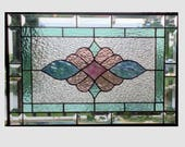 Stained glass etsy for Victorian stained glass window film