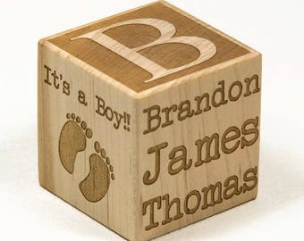 Personalized baby block new baby gift newborn baby gift personalized baby block new baby gift newborn gift baptism gift engraved baby negle Gallery