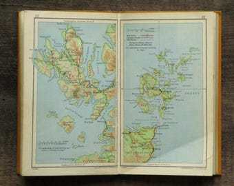 Vintage 1930s Scotland Travel Guide book Scotland for Everyman