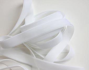 """5/8"""" Velvet Ribbon - White - 3 yards"""