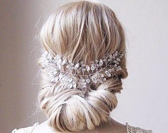 Hair vine, wedding hair vine, bridal hair vine,wedding hair piece, bridal hair piece,bridal hair accessory, crystal hair vine