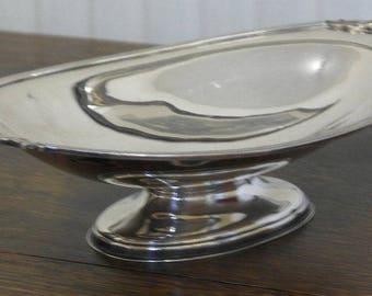 antique silver pate serving bowl fruit bowl