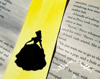 Beauty and the Beast Belle Watercolor Bookmark