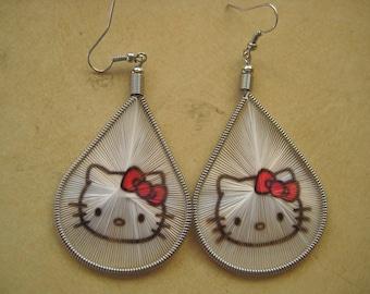 Hello Kitty Threaded Stamp Earring