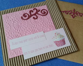 Always keep your words soft and sweet, just in case you have to eat them. - Handmade Square Cardboard Card, humorous funny card