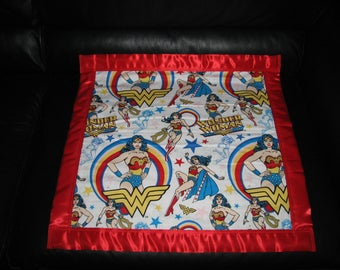 Wonder Woman Flannel/Fleece Security Blanket 22x22 Personalized