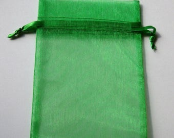 Set of 20 Emerald Organza Bags (6x9)