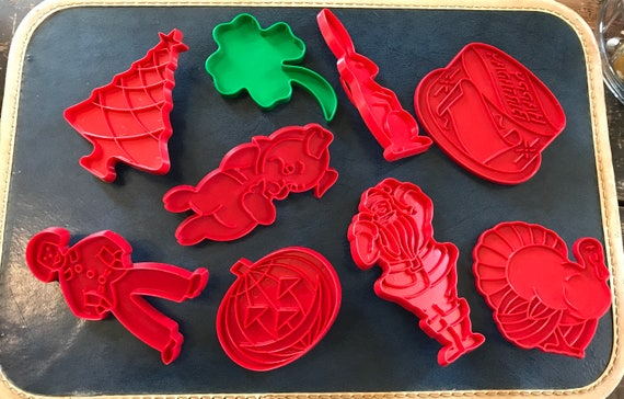 Vintage Cookie Cutter Set of 9 - Holidays & Birthday