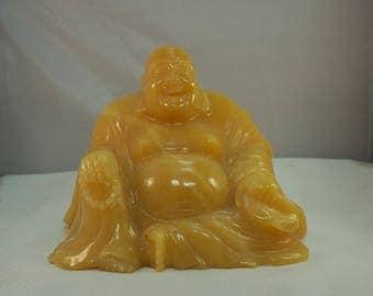Chinese Carved Shoushan Soapstone Laughing Buddha