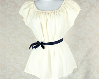 """Renaissance Steampunk Ivory Cotton Willow Chemise -- Sz. XXL -- Fits Bust 48""""-54"""" --  Ready to Ship"""