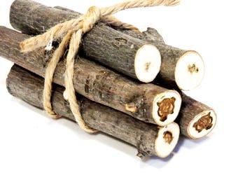 Maple Wood Sticks, Natural Raw Wood Dowels, Pumpkin Stems, Terrarium Logs, Basket Bowl Fillers, Chunky Sticks, Craft Supplies itsyourcountry