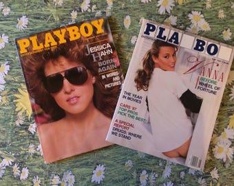 Set of 2 Vintage Playboy Magazine May November 1987 Jessica Hahn Vanna White Magazines