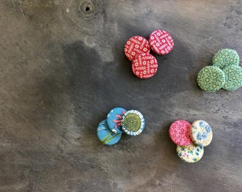 vintage fabric buttons diy craft