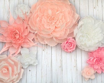 9 PC Giant Paper Flower Mix SPECIAL PRICE