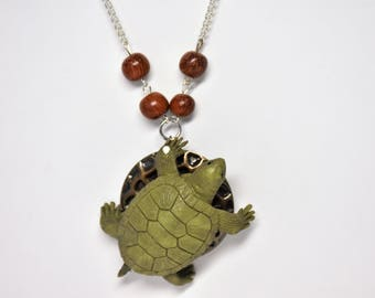 Turtle statement necklace