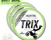 Dirt bike Valentine Tag, Valentine tag, Motorcycle tag,Motorcycle Valentine tag, Motorcycle tags, Dirt bike favor tag, Motocross Valentine
