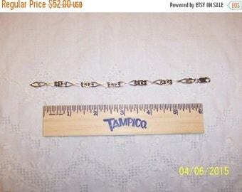 TWICE A YEAR, 25% Off Vintage 3 Links Bracelet. Sterling silver.