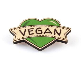 Vegan Wooden Brooch