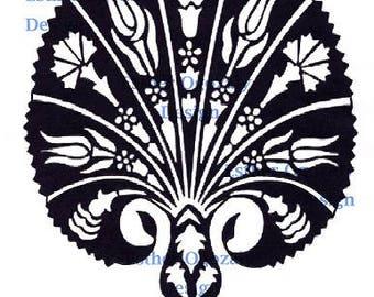 Floral Fan Book Folding PDF Pattern