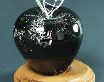 Black and White Glass Apple