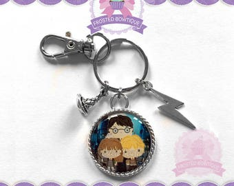 Harry Potter, Hermione, and Ron - Keychain Purse Charm