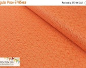 "SUMMER SALE END Of Bolt - 1 yard (36"" X 44"") - Orange Gym Floor from Riley Blake's Play Ball Collection"