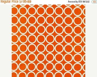 "SUMMER SALE END Of Bolt - 1 Yard Cut of Orange Circles Metro Living From Robert Kaufman - 36""x44"""