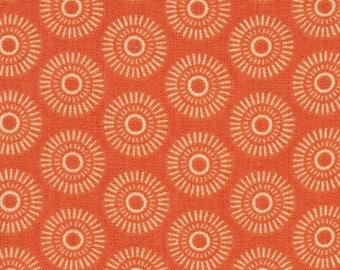 "SUMMER SALE Fat Quarter Only (18""X22"") of Lulu Geometric Orange Tone on Tone Fun Dots from Quilting Treasures"
