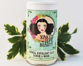 Herbal Exfoliant Clay Scrub & Mask