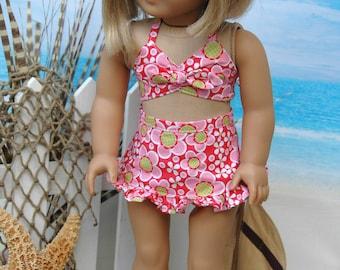 american, made, girl, doll, 18 inch doll, bathing suit, swim, summer, beach, wear