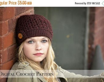 ON SALE Crochet Pattern / The Vee Beanie Pattern 034 / Crochet Hat Pattern / Womens Beanie Hat  / Chunky Beanie / Fall Fashion /  Winter Bea