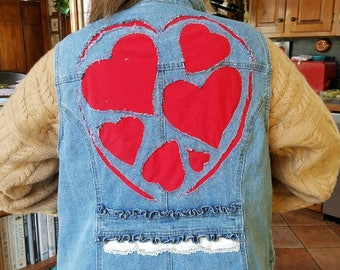 Upcycled Heart Vest