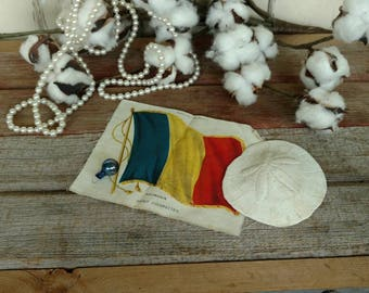 "Antique Romanian Flag Tobacco Silk From Nebo Cigarettes - Vintage Collectible + Historical ""Roumanian"" Memorabilia, Tobacco Advertising Arts"