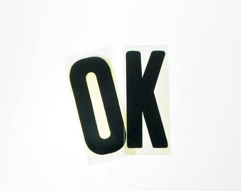 "OK in Vintage Marquee Letters, 9"" Marquee Letters, FREE SHIPPING"