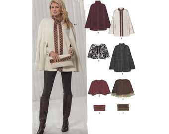 UNCUT New Look Sewing Pattern 6916 Easy to Sew Capes Capelets and Clutch Purse Size 6-8-10-12-14-16-18-20-22-24 Bust 30.5 to 50 Inches