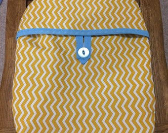 Pretty Hot water bottle cover in Yellow Chevron