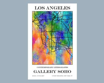 Los Angeles - Map - California - Street Map - Gallery Poster - Print - Poster