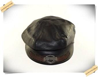 Harley Davidson Leather Hat