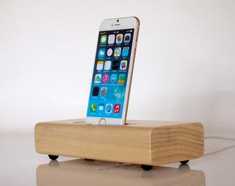 iPhone charging dock - modern minimalistic design - iPhone 6 dock / iphone 7 dock -  unique present