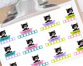 Weekly Litter box planner stickers