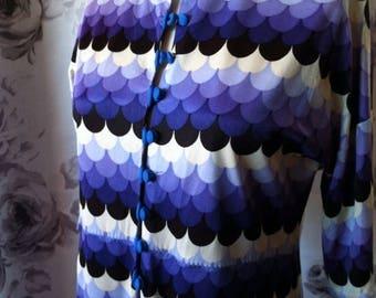 Vintage Summer Sale Mod shades of purple dress